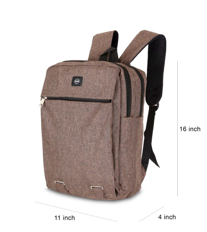 OKKO Casual Backpack with USB port - 16 Inch (Brwon) - TUZZUT Qatar Online Store