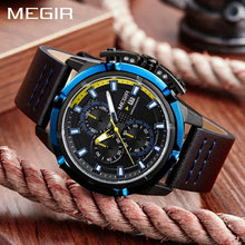 Load image into Gallery viewer, MEGIR men's quartz sports watch 2062