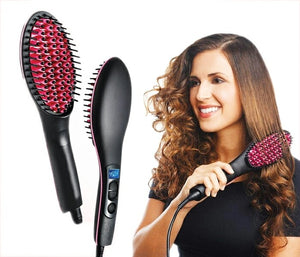 Hair Straightening Brush Ceramic