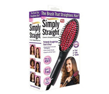 Load image into Gallery viewer, Hair Straightening Brush Ceramic