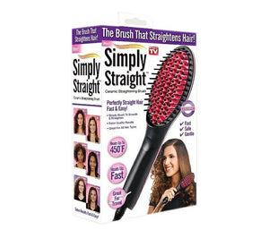 Hair Straightening Brush Ceramic - TUZZUT Qatar Online Store