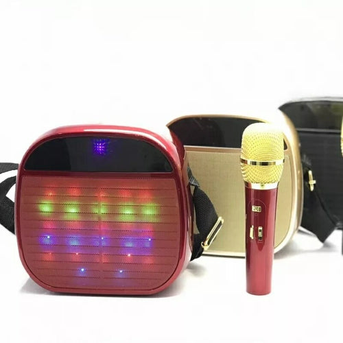 Ysa25 Super Quality Wireless Microphone Led Light Speaker With Shoulder Straps (Assorted Colours) - TUZZUT Qatar Online Store