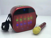 Load image into Gallery viewer, Ysa25 Super Quality Wireless Microphone Led Light Speaker With Shoulder Straps (Assorted Colours) - TUZZUT Qatar Online Store