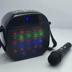Ysa25 Super Quality Wireless Microphone Led Light Speaker With Shoulder Straps (Assorted Colours)