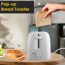Load image into Gallery viewer, Olympia 2 Slices Plastic Toaster - OE-506 - White - TUZZUT Qatar Online Store