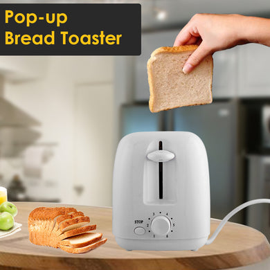 Olympia 2 Slices Plastic Toaster - OE-506 - White - TUZZUT Qatar Online Store
