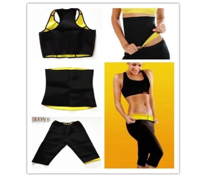 3 in 1 Body Shaper Weight Loss Suit, Black - TUZZUT Qatar Online Store