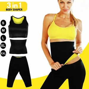3 in 1 Body Shaper Weight Loss Suit, Black