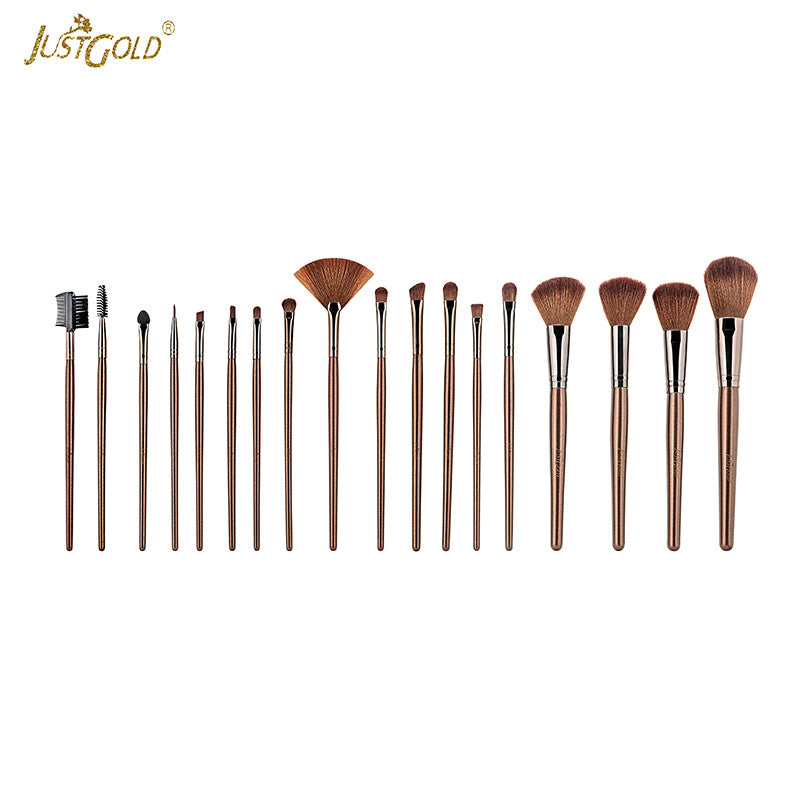Just Gold 18 Pieces Brush Set - Beige, JG-9257 - TUZZUT Qatar Online Store