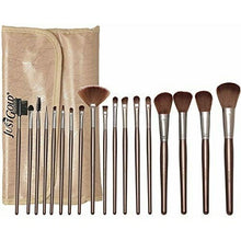 Load image into Gallery viewer, Just Gold 18 Pieces Brush Set - Beige, JG-9257