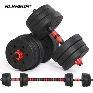 Home Gym 40KG Dumbbell/Barbell Set, Adjustable Dumbbells Weight Set Fitness Biceps Exercise Barbell/Dumbbells - TUZZUT Qatar Online Store
