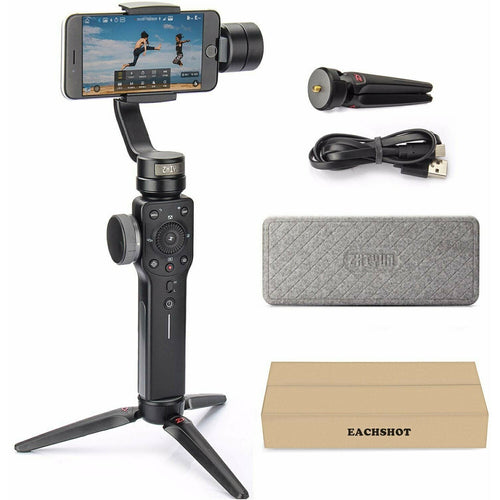 Zhiyun Smooth 4 [Black] 3-Axis handheld gimbal for Smartphone - TUZZUT Qatar Online Store