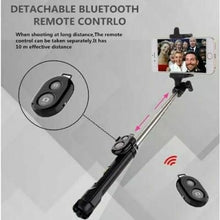 Load image into Gallery viewer, 3 In 1 Monopod With Bluetooth Shutter And Build In Tripod WXY-01 - Assorted Colours