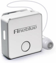 Load image into Gallery viewer, Fineblue F1 Bluetooth 5.0 Headphones Clip-on Wireless Headphone Cable Retractable Earphone Music Headsets Vibration Alert Hands-free with Mic Multi-point Connection