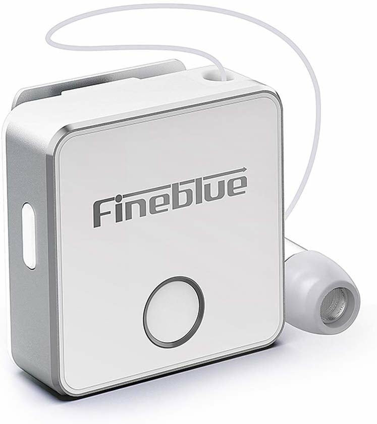 Fineblue F1 Bluetooth 5.0 Headphones Clip-on Wireless Headphone Cable Retractable Earphone Music Headsets Vibration Alert Hands-free with Mic Multi-point Connection - TUZZUT Qatar Online Stor