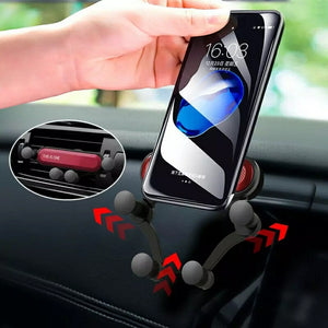 GravitySmart© Mini Car Phone Holder Air Vent Gravity Linkage Mount Bracket for Mobile Phones - TUZZUT Qatar Online Store