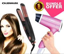 Load image into Gallery viewer, Olsenmark CO4008+4020 Pack Of Hair Dryer & Ceramic Hair Straightener (Set of 2)
