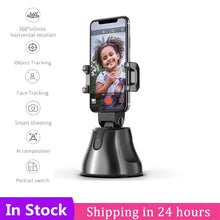 Load image into Gallery viewer, Vloggers 360° Auto Face & Object Tracking Smartphone Mount Holder (Supports iOS and Android) - TUZZUT Qatar Online Store