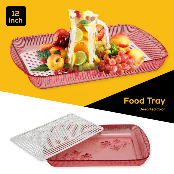 12 Inch Food Tray - Assorted Color - TUZZUT Qatar Online Store