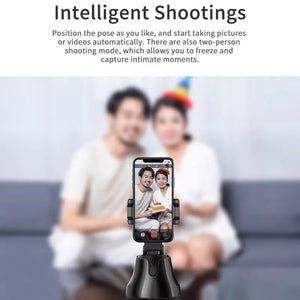 Vloggers 360° Auto Face & Object Tracking Smartphone Mount Holder (Supports iOS and Android) - TUZZUT Qatar Online Store
