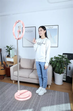 New Portable 12 inch Selfie Flash LED Dimmable Ring Light with 54-168cm Stand and Mobile Phone Holder - TUZZUT Qatar Online Store