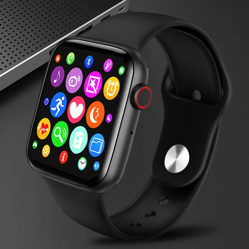T55 Series 5 Smart Watch Bluetooth Call Music Player 44MM For Apple IOS Android Phone Heart Rate Moniter - TUZZUT Qatar Online Store