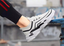 Load image into Gallery viewer, Trending Fashion Breathable Non-slip Tennis Sneakers Men Shoes - Model 9920 (White) - TUZZUT Qatar Online Store