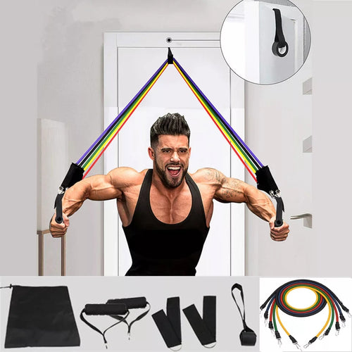Pull Rope Fitness Exercises Resistance Bands Set - TUZZUT Qatar Online Store