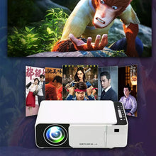 Load image into Gallery viewer, T5 Portable LED 1080P Video HD Projector 2600 Lumens 800*400 Wi-Fi Ready With HDMI, VGA, AV, USB, SD Card - TUZZUT Qatar Online Store