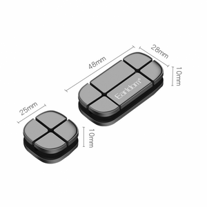 Earldom EH31 Cross Peas Cable Clip For Organizing Your Cables In Office Or Home, Black - TUZZUT Qatar Online Store