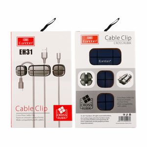 Earldom EH31 Cross Peas Cable Clip For Organizing Your Cables In Office Or Home, Black