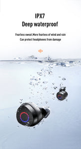 JOYROOM JR-TL1 Bluetooth 5.0 TWS Wireless Earbuds, iPX7 Waterproof with Charging Case - TUZZUT Qatar Online Store