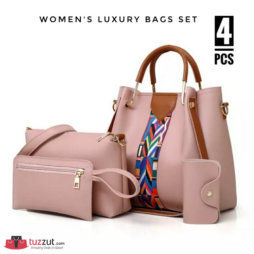 4 Pcs Women's Luxury Bags Set - 5565 - TUZZUT Qatar Online Store