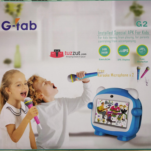 G-Tab G-2 Kids Learning Tablets with Free 2 Karaoke Microphone - TUZZUT Qatar Online Store