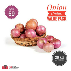 Onion (India) Value Pack 20Kg - TUZZUT Qatar Online Store