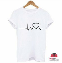 Load image into Gallery viewer, 2 Pcs New Summer Love Printed Women's Short Sleeve Causal T-Shirts (Black & White) - TUZZUT Qatar Online Store