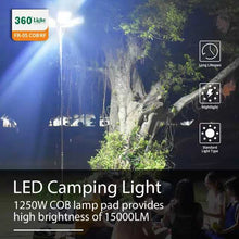 Load image into Gallery viewer, 360° Multifunction Outdoor 1250W LED Super Bright Tent Light Rod Remote Control Camping Lantern - TUZZUT Qatar Online Store
