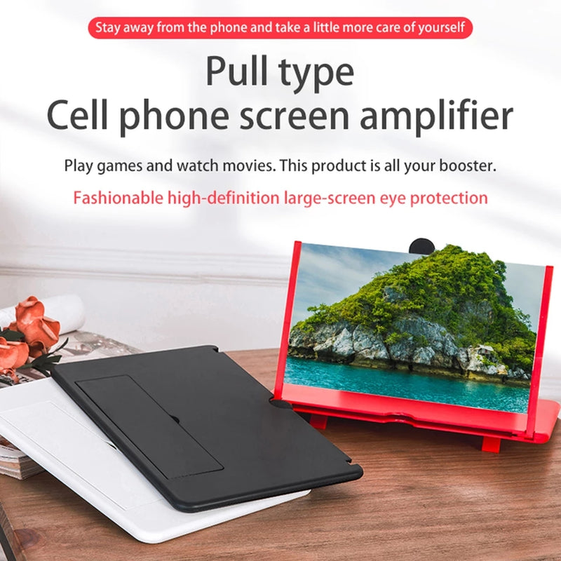 12inch Foldable 3D Mobile Phone Screen Magnifier - TUZZUT Qatar Online Store