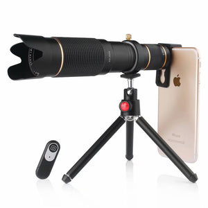 4K HD 36x Telephoto Zoom Lens,Wireless Remote Shutter,Clip-On Lense Compatible iPhone and Most Smartphones,for Hunting Camping Travelling - TUZZUT Qatar Online Store