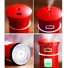 Load image into Gallery viewer, 3 in 1 Aroma Diffuser Postbox Humidifier Mini Air Purifier Aromatherapy Essential Oil Diffuser LED Night Light USB Fan Fogger - TUZZUT Qatar Online Store