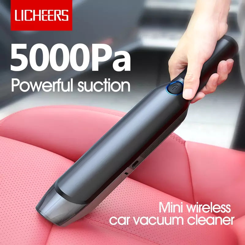 LICHEERS Portable Mini Home Car Handheld Cordless Vacuum Cleaner LC-256 - TUZZUT Qatar Online Store