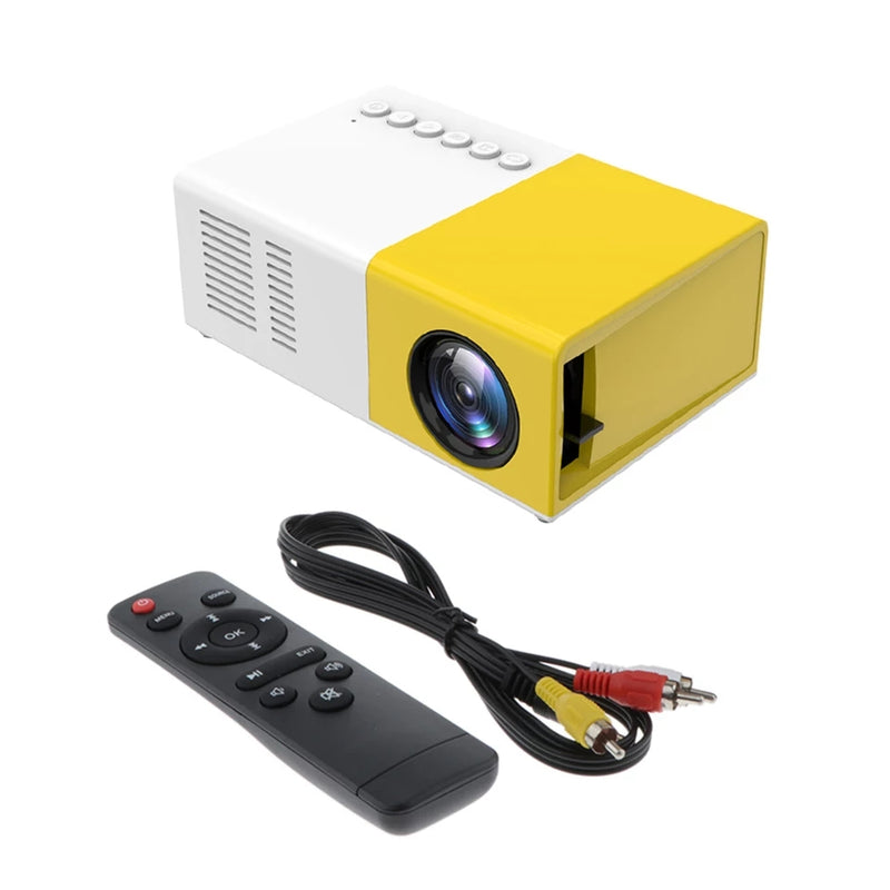 Mini Portable LED Projector Support 1080p AV, USB, SD card - TUZZUT Qatar Online Store