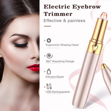 Painless Mini Rechargeable Eyebrow Trimmer Brows Pen Hair Remover - TUZZUT Qatar Online Store