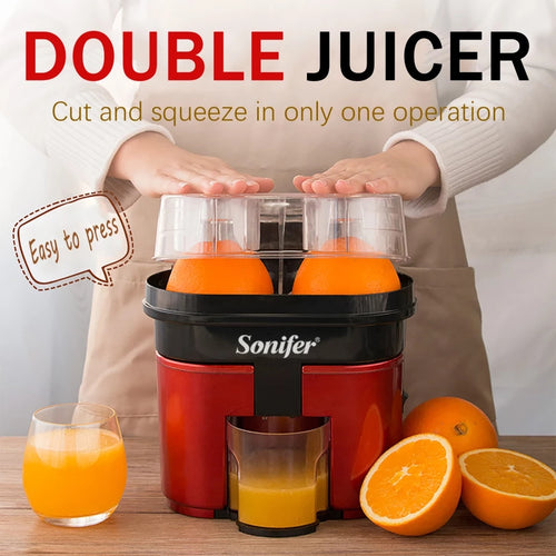 Double Juicer 90W Electric Lemon Orange Fresh Squeezer - TUZZUT Qatar Online Store
