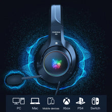 Load image into Gallery viewer, ONIKUMA K9 RGB Light Gaming Headset HD Stereo 3.5mm Audio with Mic for PS4, Xbox One, Laptop, PC - TUZZUT Qatar Online Store