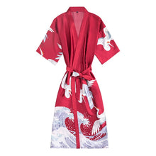 Load image into Gallery viewer, Women's Fashion Kimono Robe Summer Nightgown Rayon Bathgown Sleepwear - TUZZUT Qatar Online Store