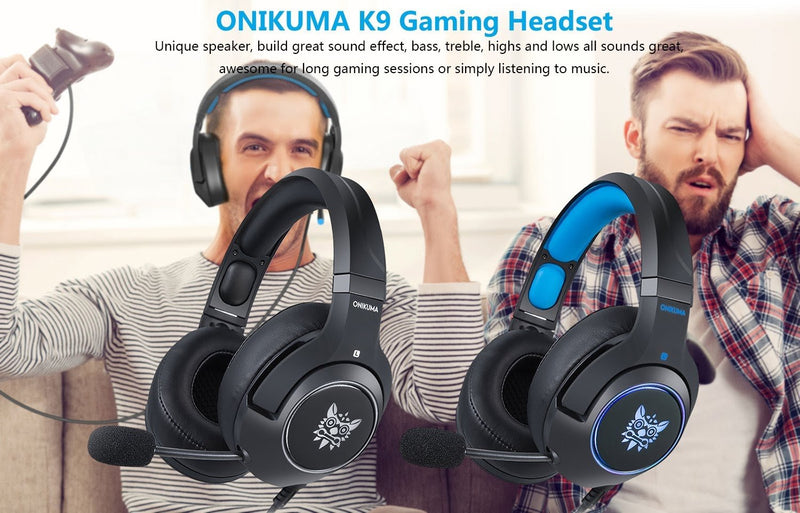 ONIKUMA K9 RGB Light Gaming Headset HD Stereo 3.5mm Audio with Mic for PS4, Xbox One, Laptop, PC - TUZZUT Qatar Online Store
