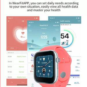 Smart Wristband BT Call Music Play Dynamic Heart Rate Blood Pressure Measurement Smartwatch C1 - TUZZUT Qatar Online Store