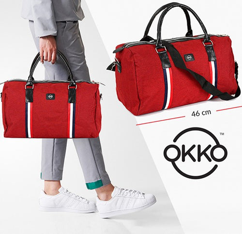OKKO Casual Travel Bag, GH-203 - Red - TUZZUT Qatar Online Store