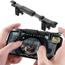Load image into Gallery viewer, ROCK Phone Game Joystick for Pubg Mobile Four Finger Free Fire Aim Button Trigger Game Controller for pubg L1 R1 Shooter Game